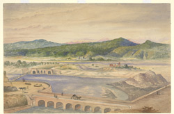 The head of the Bari-Doab Canal, Madhopur, Gurdaspur district (Punjab). c.1861-69